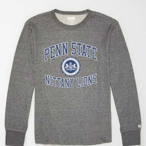 Tailgate Men's PSU Nittany Lions Thermal Shirt Salt And Pepper XS