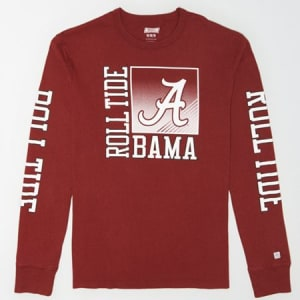 Tailgate Men's Alabama Long Sleeve T-Shirt Red L
