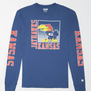 Tailgate Men's Kansas Long Sleeve T-Shirt Royal Blue S