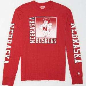 Tailgate Men's Nebraska Long Sleeve T-Shirt Red XS
