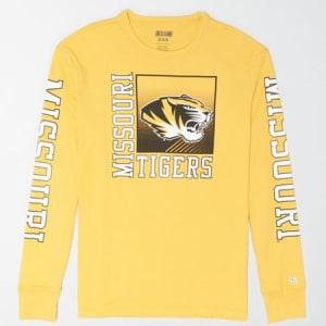 Tailgate Men's Missouri Long Sleeve T-Shirt Yellow M