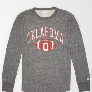 Tailgate Men's Oklahoma Sooners Thermal Shirt Salt And Pepper S