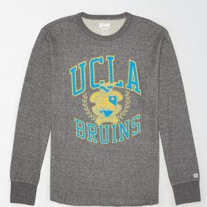 Tailgate Men's UCLA Bruins Thermal Shirt Salt And Pepper XS