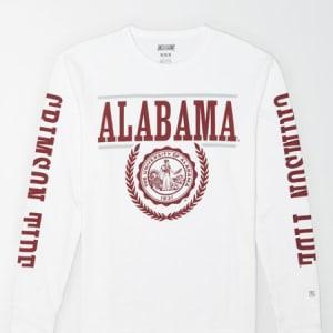 Tailgate Men's Alabama Crimson Tide Long-Sleeve T-Shirt White XS