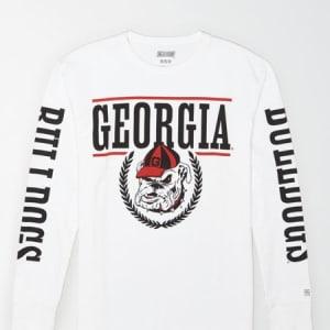 Tailgate Men's Georgia Bulldogs Long-Sleeve T-Shirt White XS