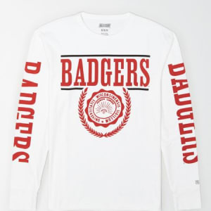 Tailgate Men's Wisconsin Badgers Long-Sleeve T-Shirt White XXL
