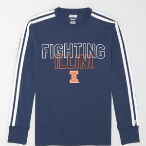 Tailgate Men's Illinois Fighting Illini Long Sleeve T-Shirt Blue XS