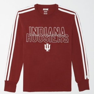 Tailgate Men's Indiana Hoosiers Long Sleeve T-Shirt Campus Red M