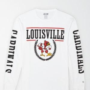 Tailgate Men's Louisville Cardinals Long-Sleeve T-Shirt White L