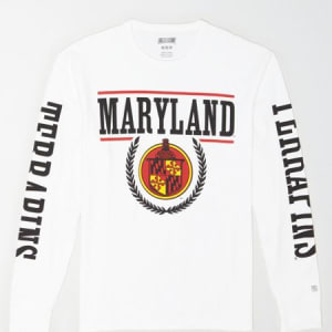 Tailgate Men's Maryland Terrapins Long-Sleeve T-Shirt White XXL