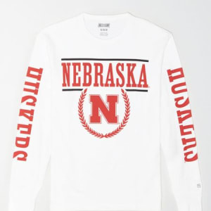 Tailgate Men's Nebraska Cornhuskers Long-Sleeve T-Shirt White XS