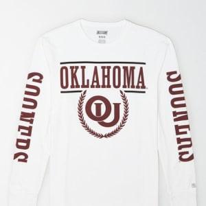 Tailgate Men's Oklahoma Sooners Long-Sleeve T-Shirt White L