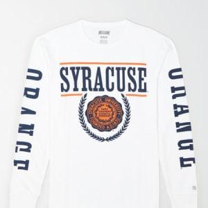 Tailgate Men's Syracuse Orange Long-Sleeve T-Shirt White XS