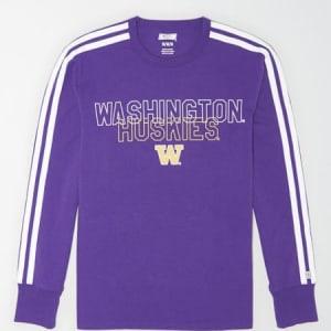 Tailgate Men's Washington Huskies Long Sleeve T-Shirt Prep Purple XXL