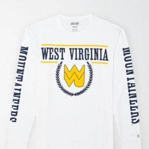 Tailgate Men's WVU Mountaineers Long-Sleeve T-Shirt White