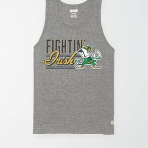 Tailgate Men's Notre Dame Graphic Tank Top Gray Heather S