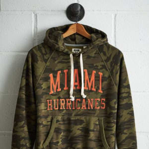 Tailgate Men's Miami Camo Hoodie Olive XL