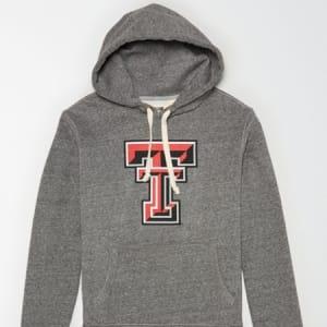 Tailgate Men's Texas Tech Fleece Hoodie Salt And Pepper XXL