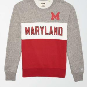 Tailgate Men's Maryland Terrapins Colorblock Fleece Sweatshirt Gray Heather S