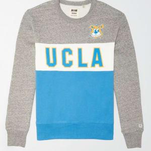 Tailgate Men's UCLA Bruins Colorblock Fleece Sweatshirt Gray Heather XXL