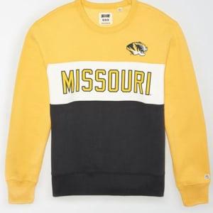 Tailgate Men's Missouri Tigers Colorblock Fleece Sweatshirt Yellow S