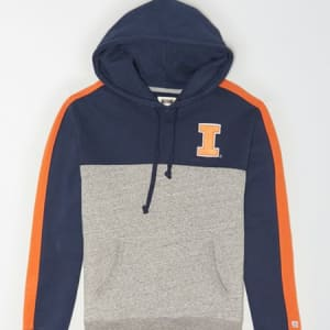 Tailgate Men's Illinois Fightin' Illini Fleece Hoodie Blue XS