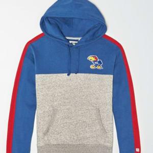 Tailgate Men's Kansas Jayhawks Fleece Hoodie Royal Blue XS