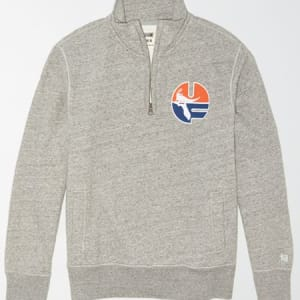 Tailgate Men's Florida Quarter Zip Sweatshirt Gray Heather XS