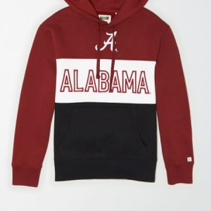 Tailgate Men's Alabama Crimson Tide Colorblock Hoodie Campus Red XL