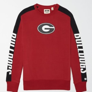 Tailgate Men's Georgia Bulldogs Crew Sweatshirt Red XXL