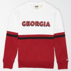 Tailgate Men's Georgia Bulldogs Colorblock Sweatshirt White XL