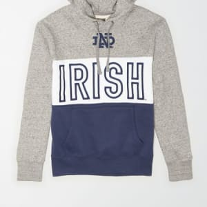 Tailgate Men's Notre Dame Fighting Irish Colorblock Hoodie Gray Heather XS
