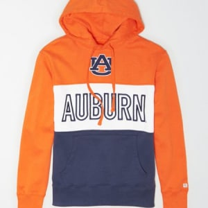 Tailgate Men's Auburn Tigers Colorblock Hoodie Orange Flare M