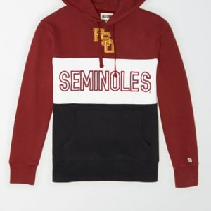 Tailgate Men's Florida State Seminoles Colorblock Hoodie Campus Red L