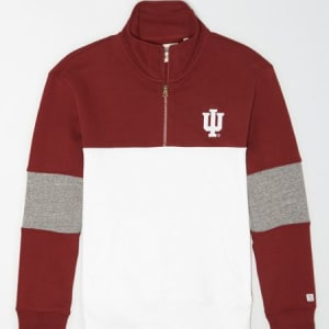 Tailgate Men's Indiana Hoosiers Quarter-Zip Sweatshirt Campus Red S