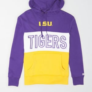 Tailgate Men's LSU Tigers Colorblock Hoodie Prep Purple M