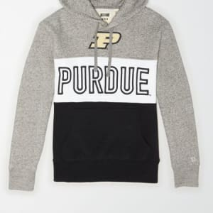 Tailgate Men's Purdue Boilermakers Colorblock Hoodie Gray Heather XS