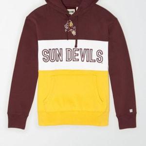 Tailgate Men's Arizona State Sun Devils Colorblock Hoodie Maroon XS