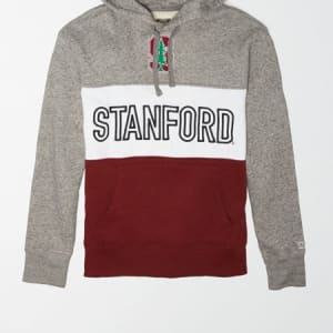 Tailgate Men's Stanford Cardinal Colorblock Hoodie Gray Heather XS