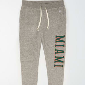 Tailgate Men's Miami Hurricanes Fleece Sweatpant Gray Heather M