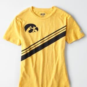 Tailgate Women's Iowa Hawkeyes Slub Jersey T-Shirt Yellow S