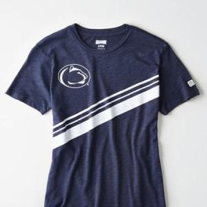 Tailgate Women's Penn State Slub Jersey T-Shirt Blue M