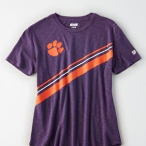 Tailgate Women's Clemson Tigers Slub Jersey T-Shirt Purple XS