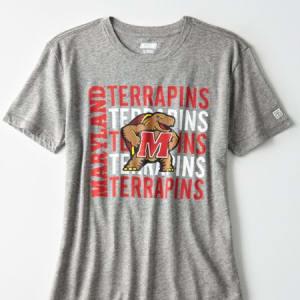 Tailgate Women's Maryland Terrapins Slub Jersey T-Shirt Gray Heather XS