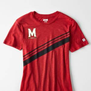 Tailgate Women's Maryland Terrapins Slub Jersey T-Shirt Red M