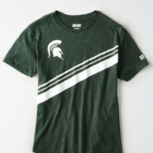 Tailgate Women's Michigan State Slub Jersey T-Shirt Green S