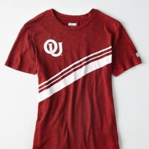 Tailgate Women's Oklahoma Slub Jersey T-Shirt Red XS