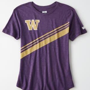 Tailgate Women's Washington Huskies Slub Jersey T-Shirt Purple XS