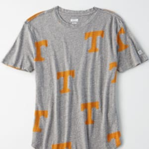 Tailgate Women's Tennessee All-Over Graphic T-Shirt Gray Heather XS