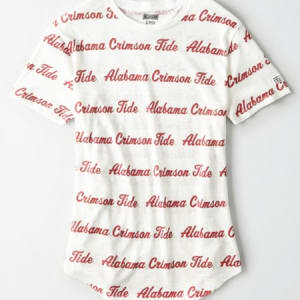 Tailgate Women's Alabama All-Over Graphic T-Shirt White XS